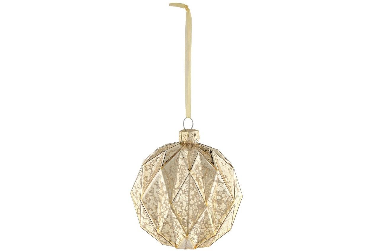 Boule de Noël à facettes, effet doré et métallisé, Marks & Spencer