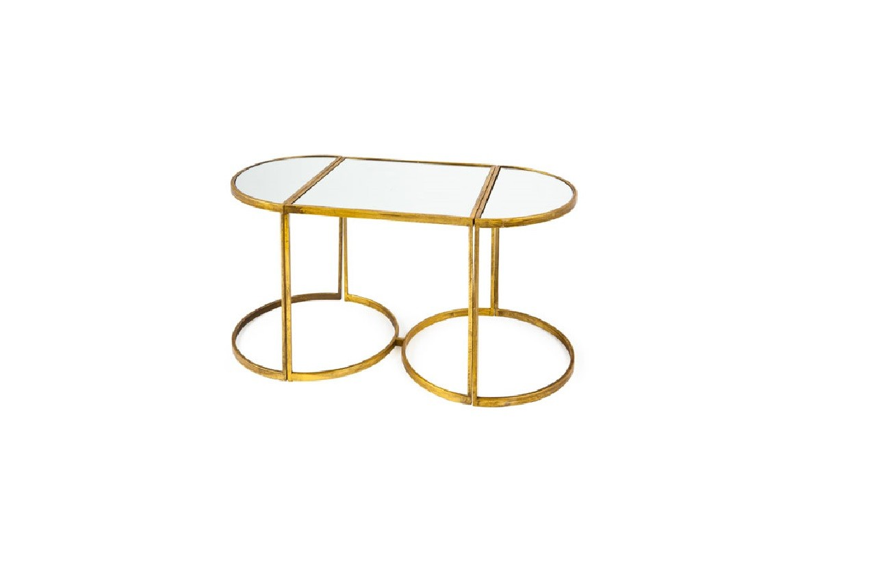 Petites Tables Miroir, lot de trois, Zara home
