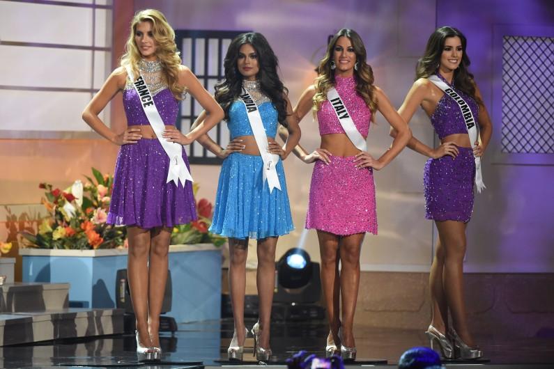 Miss France, Inde et Italie au côté de la nouvelle Miss Univers Paulina Vega