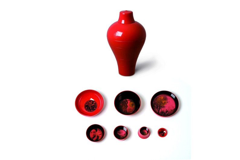 Vase ming rouge, Ibride, Fleux