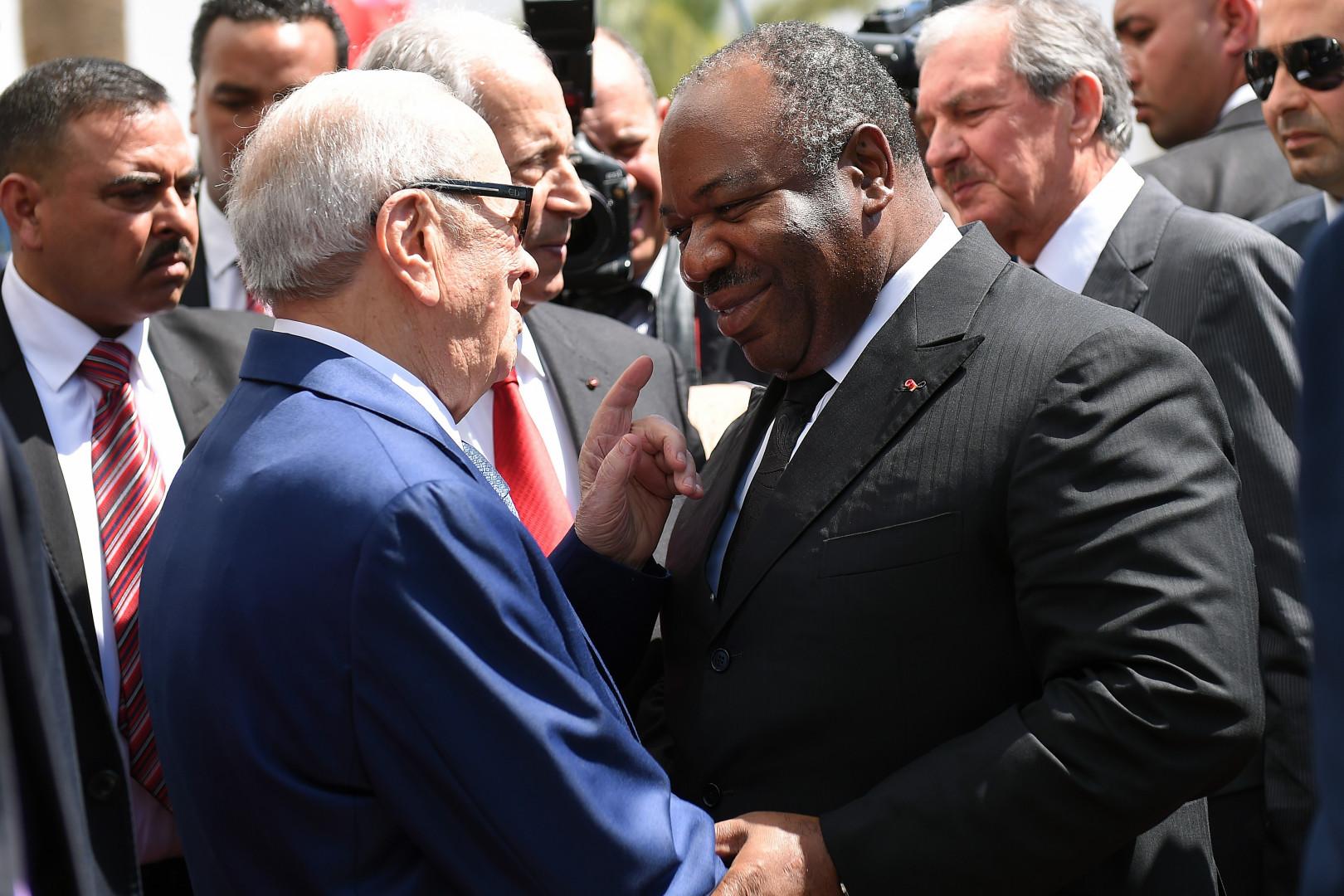Le président gabonais, Ali Bongo, était à la marche contre le terrorisme à Tunis.
