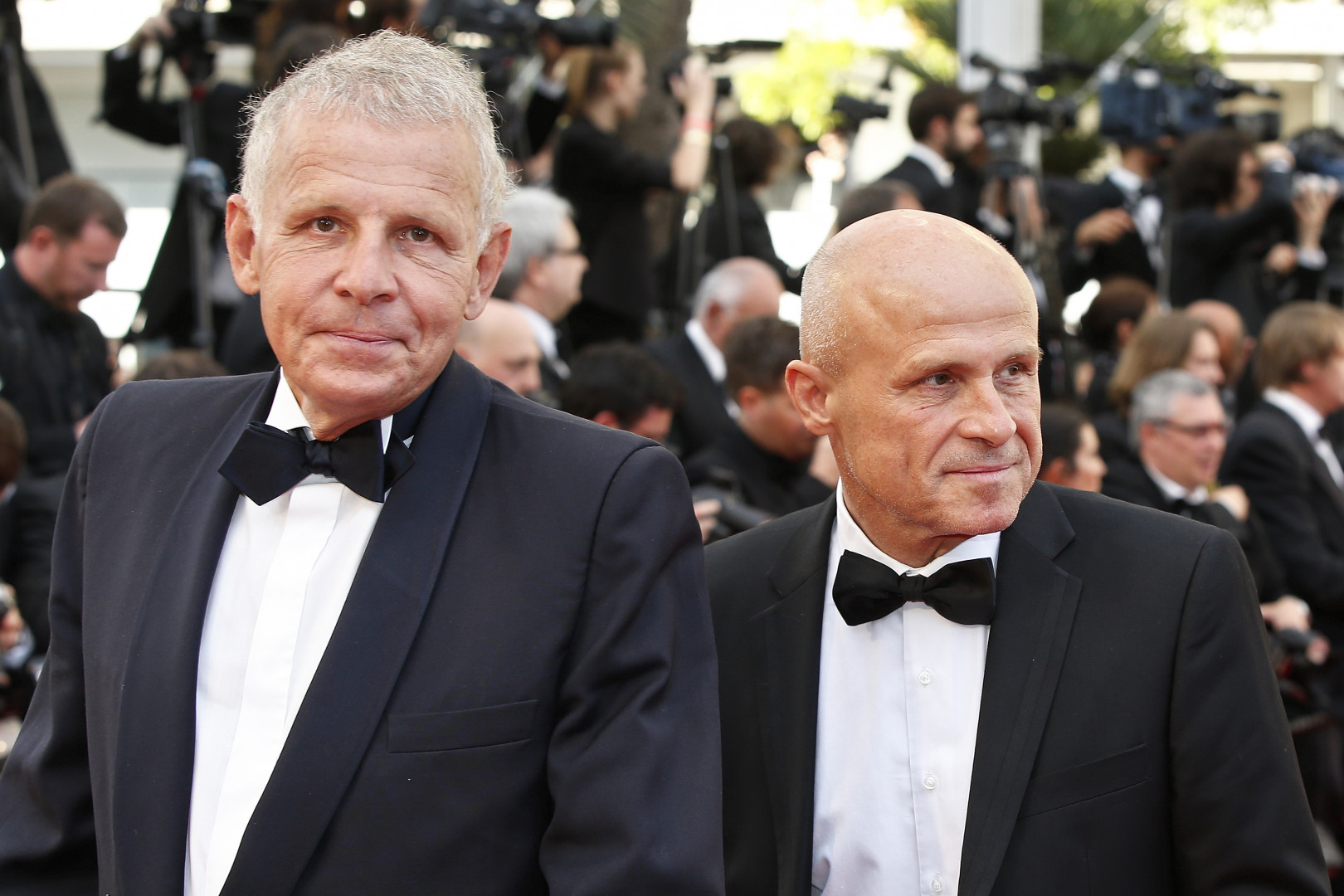 Le journaliste Patrick Poivre d'Arvor avec son frère, Olivier, étaient présents
