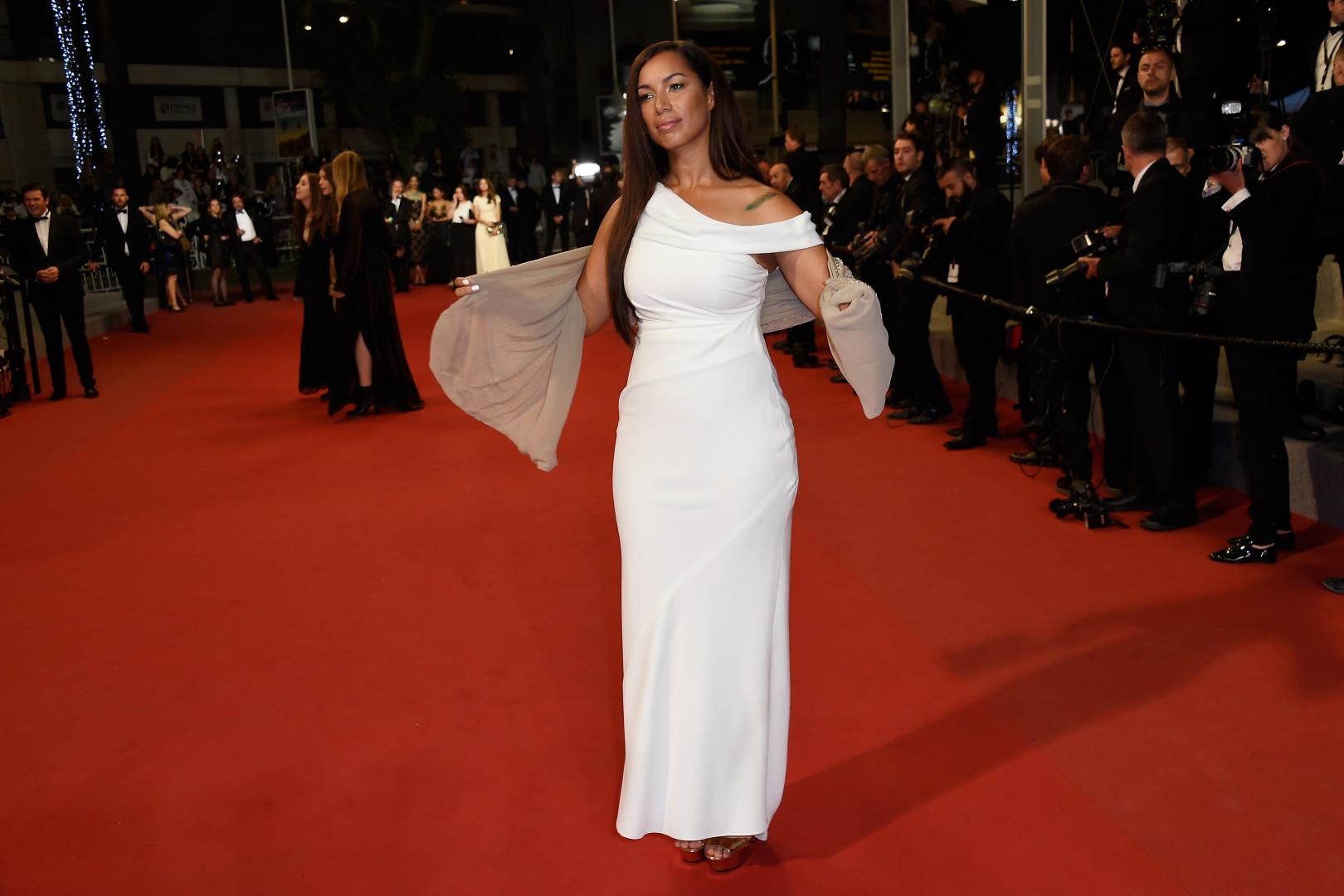 Leona Lewis, la chanteuse britannique, a monté les marches lors du quatrième jour