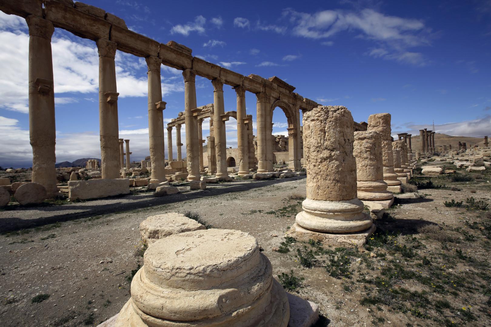 Après avoir été d'abord repoussées, les forces de l'EI ont pris le contrôle de la cité antique. Photo datant du 14 mars 2014