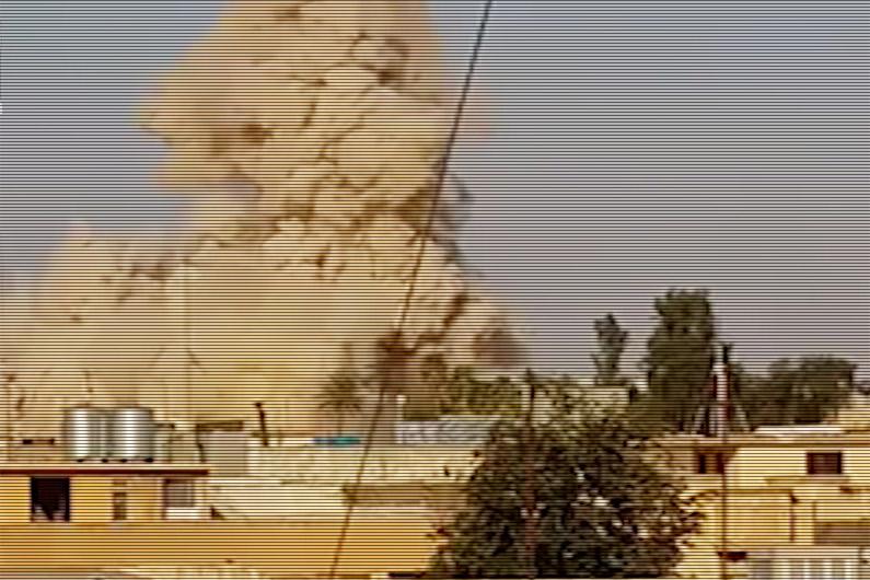 Cette même mosquée, au moment de l'explosion