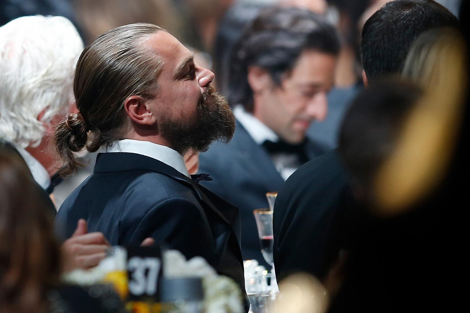 Leonardo DiCaprio était aussi présent à cette vente aux enchères au profit de la lutte contre le Sida