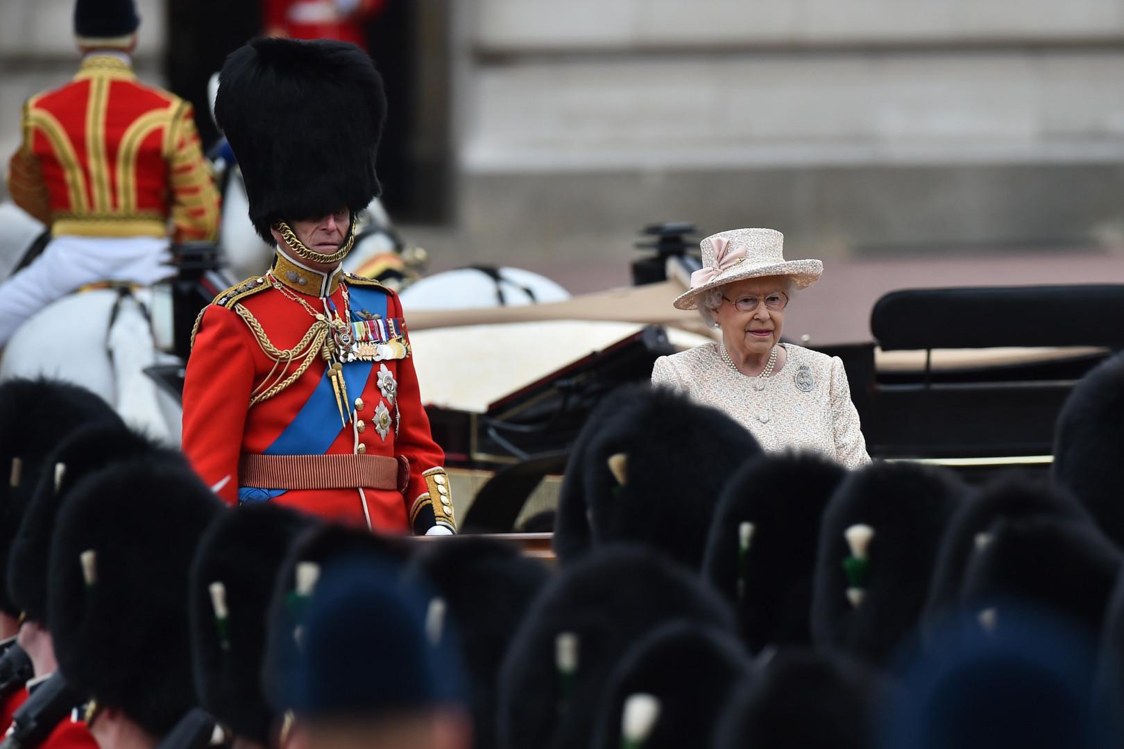 Le prince Philip et la reine d'Angleterre