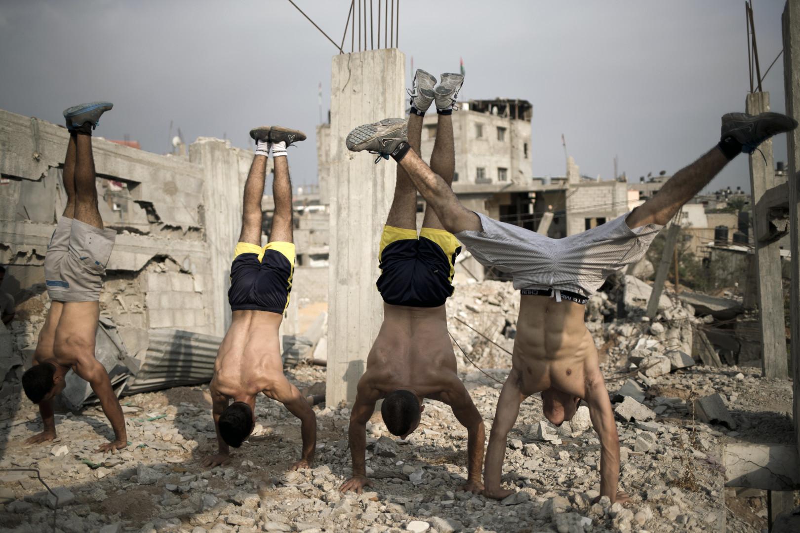 """Le groupe """"Bar Palestine"""" prend la pose"""