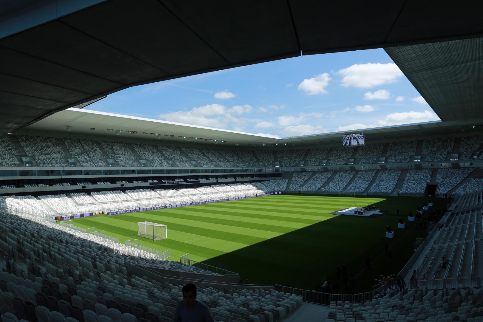 Le Nouveau Stade de Bordeaux a une capacité de 42.115 places
