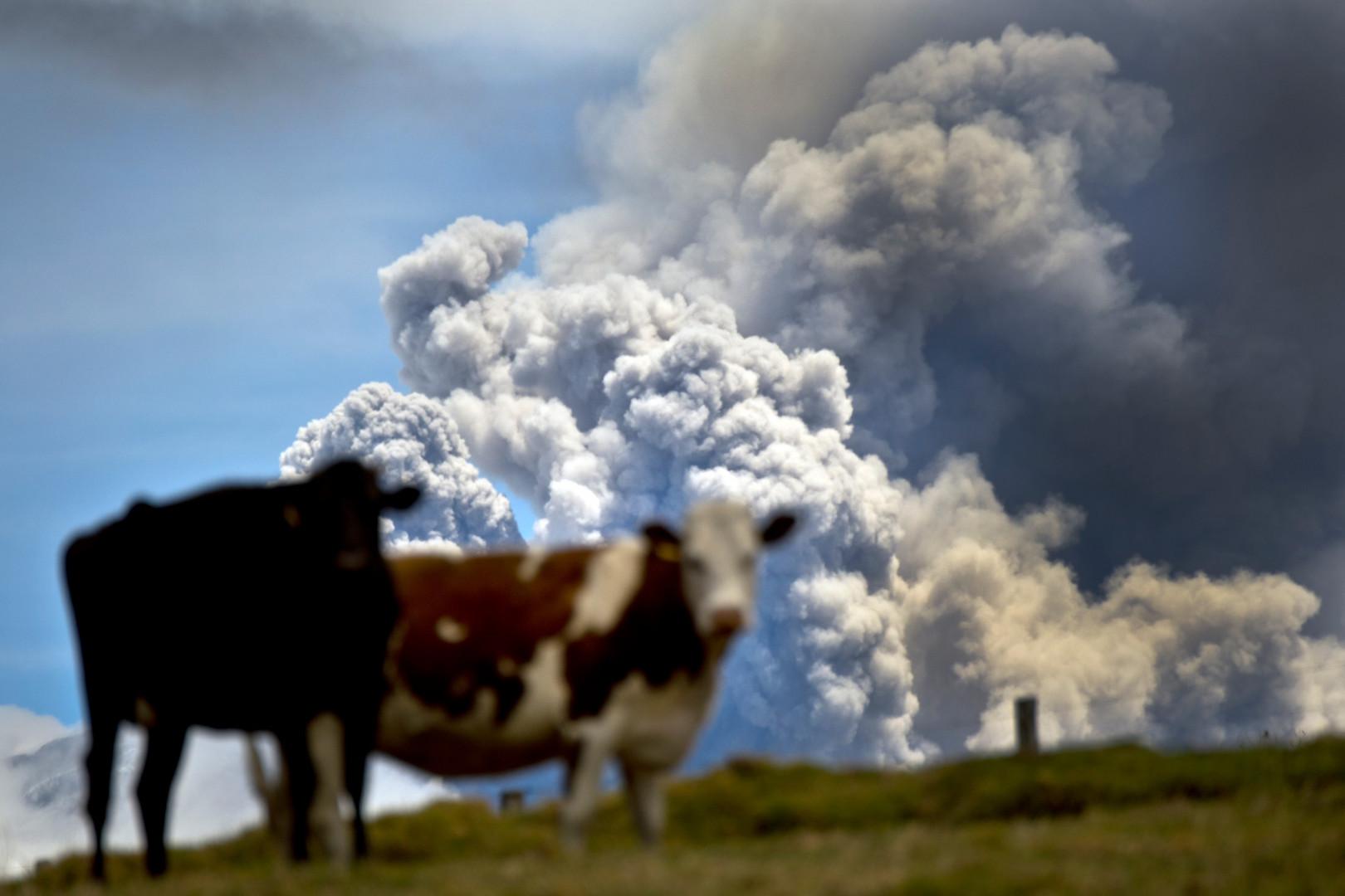 Dans les montagnes andines, le spectacle du volcan est impressionnant