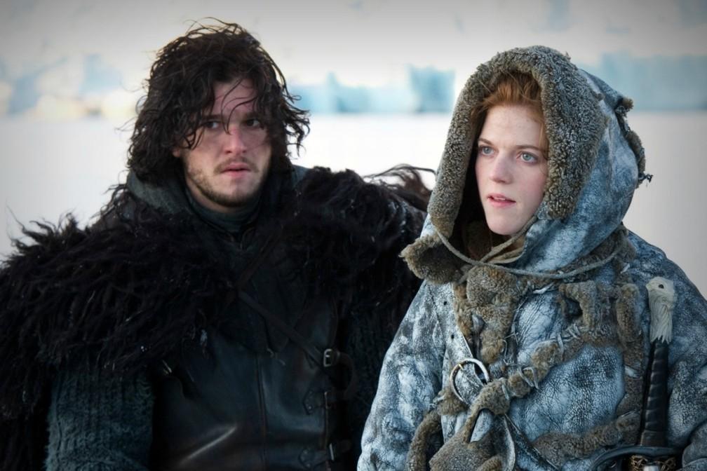 Ygritte (Rose Leslie), en compagnie de Jon Snow (Kit Harrington)