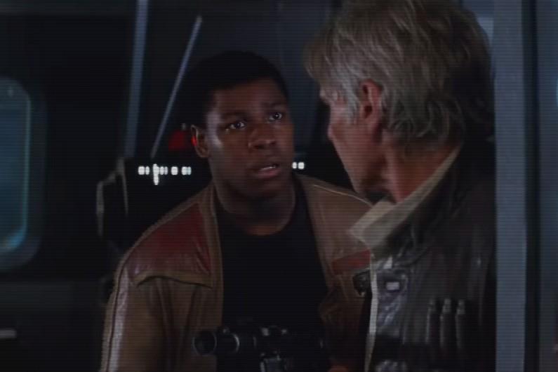 """John Boyega incarne Finn, l'un des nouveaux héros de """"Star Wars"""""""
