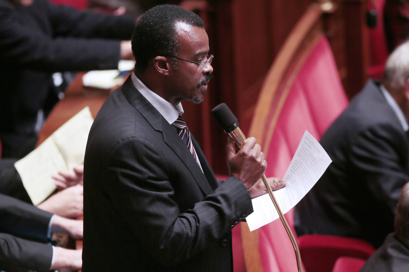 """Ary Chalus, tête de liste du mouvement """"Changez d'avenir"""" aux élections régionales 2015 en Guadeloupe"""