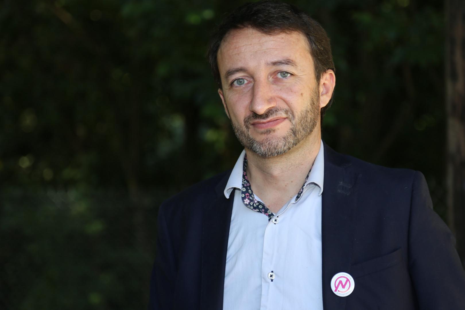 Gilles Fabre, tête de liste Nouvelle Donne pour les élections régionales 2015 en Languedoc-Roussillon-Midi-Pyrénées.