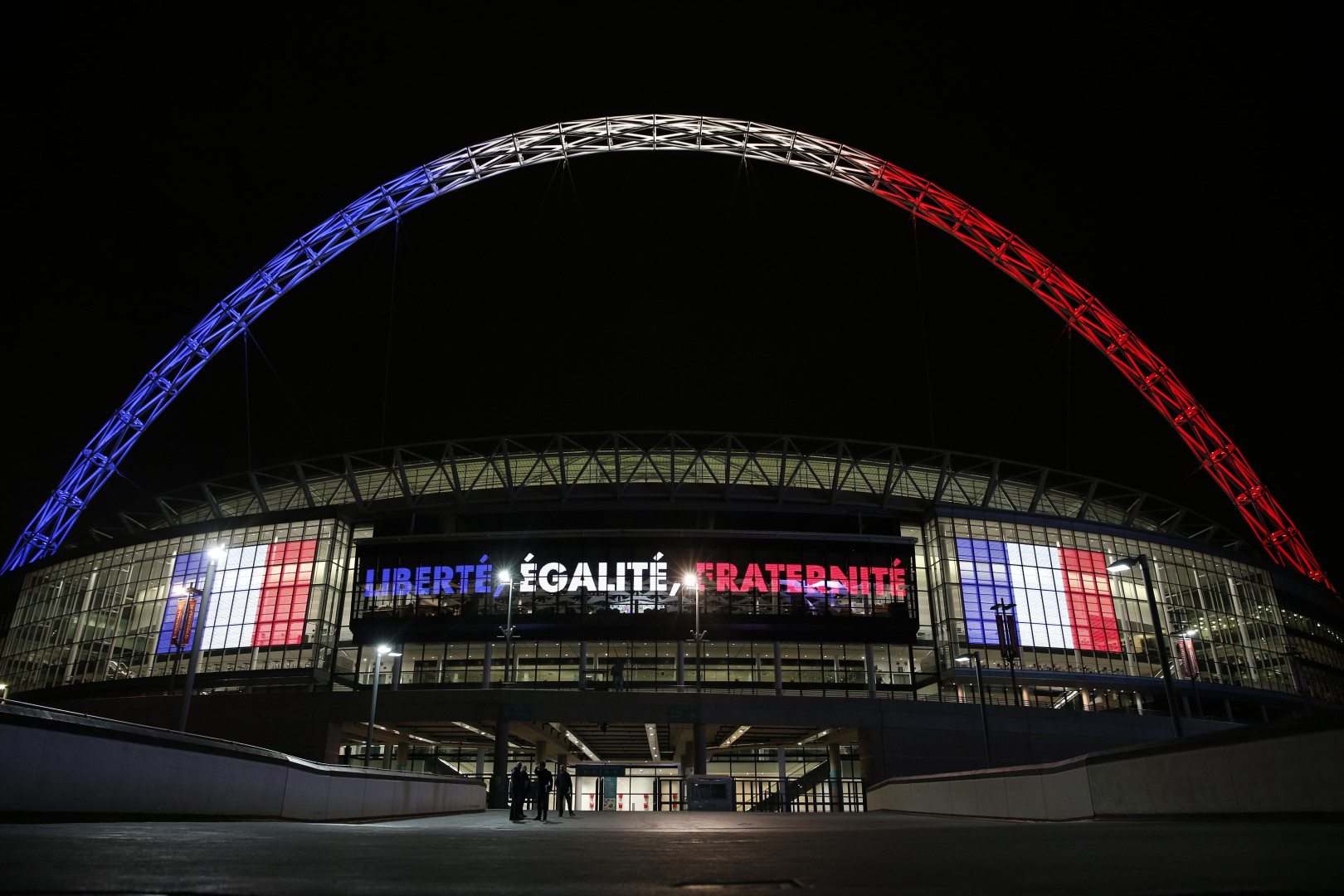 Le stade de Wembley aux couleurs de la France, le 15 novembre 2015
