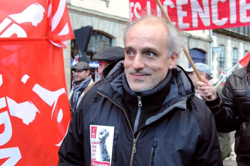 Philippe Poutou est candidat à la présidentielle de 2017 pour le Nouveau parti anticapitaliste.