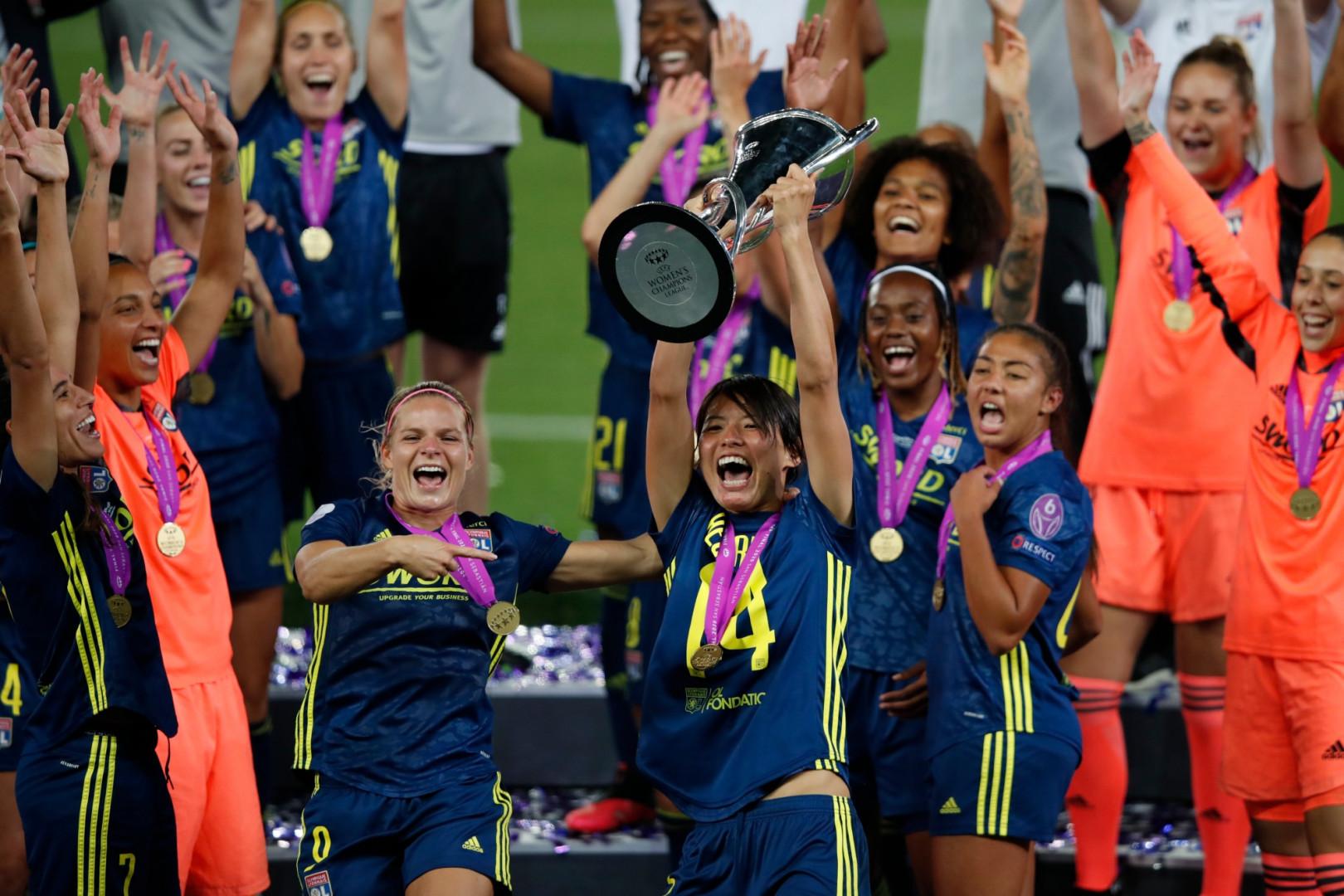 30 août : les Lyonnaises remportent leur 7e Ligue des champions, la 5e de suite