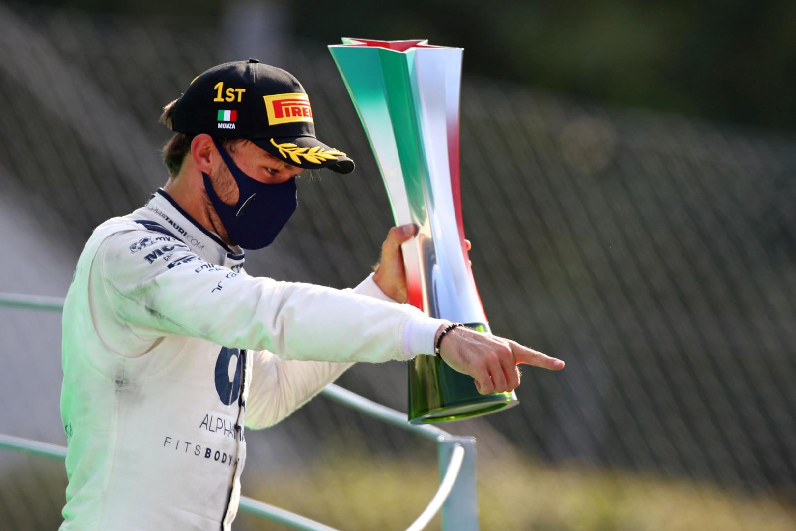6 septembre : Pierre Gasly triomphe au Grand Prix d'Italie, une première pour un Français depuis 1996