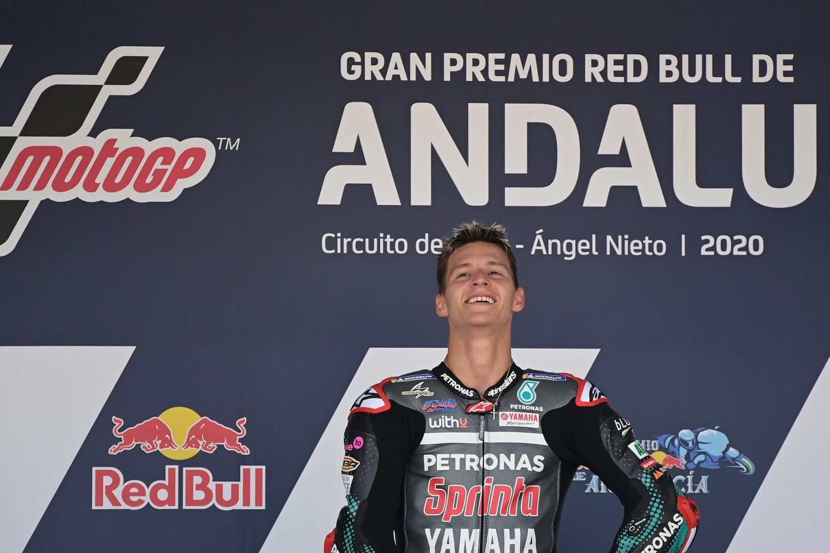 26 juillet 2020 : Fabio Quartararo remporte une 2e course de MotoGP de suite. 20 ans que la France attendait cela