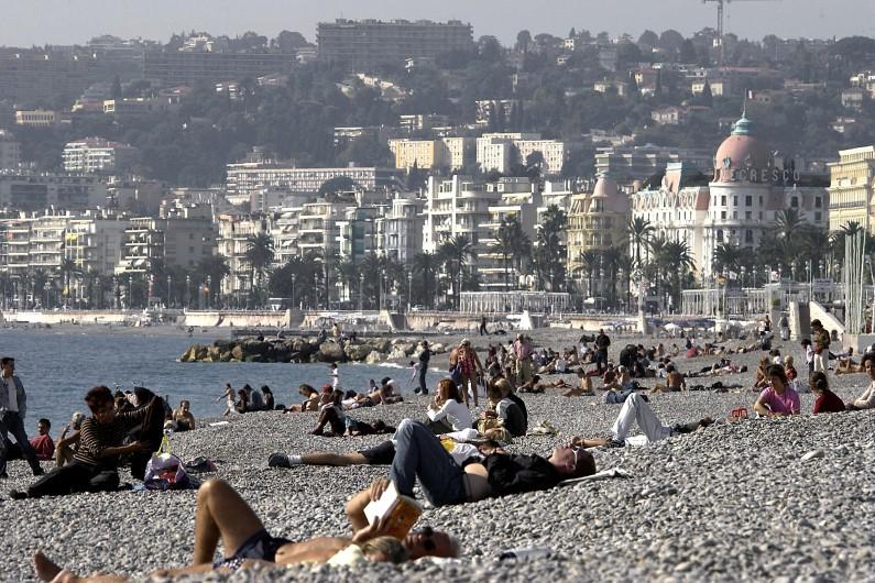 Les plages niçoises sur la Côte d'Azur