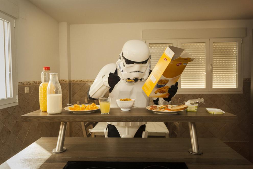 Un bon petit-déjeuner avant une journée dans une galaxie lointaine