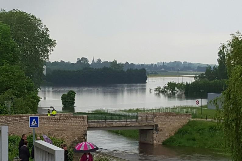 Inondations à Chécy (Loiret) le 2 juin 2016