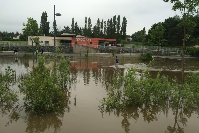 Inondations à Monts (Indre-et-Loire) le 2 juin 2016