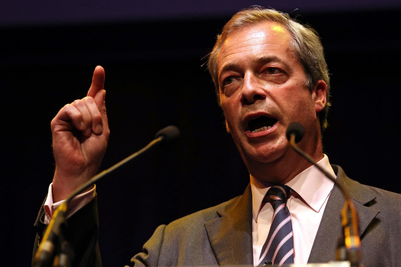 Nigel Farage, le leader du UKIP, le parti eurosceptique britannique
