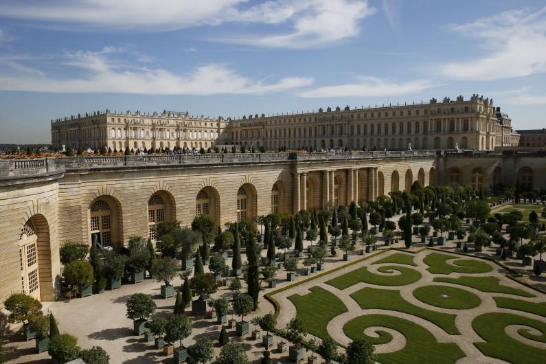 Vue du château de Versailles en septembre 2015