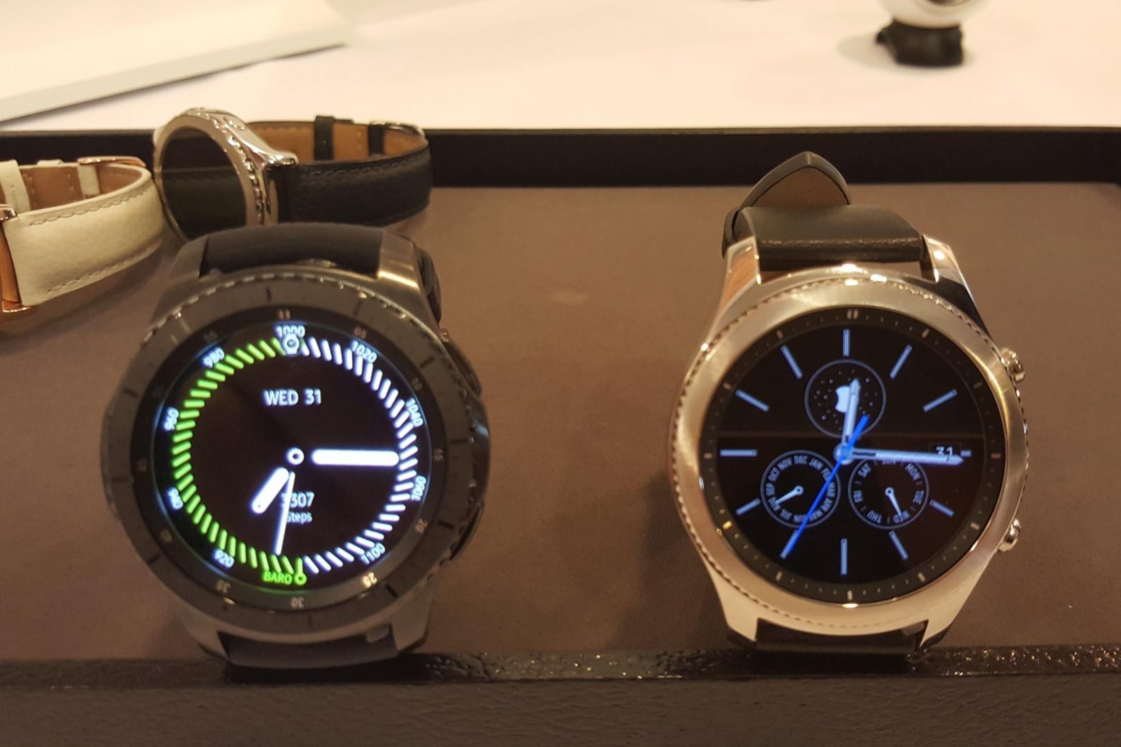 La nouvelle montre Gear S3 de Samsung, modèles sport et classique