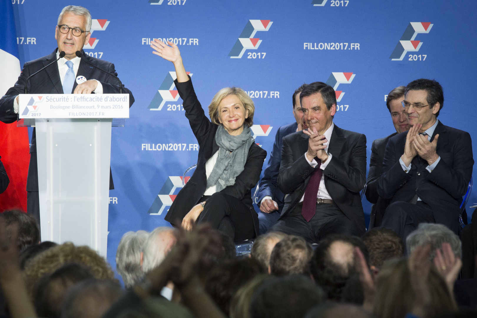 Valérie Pécresse et François Fillon, le 9 mars 2016