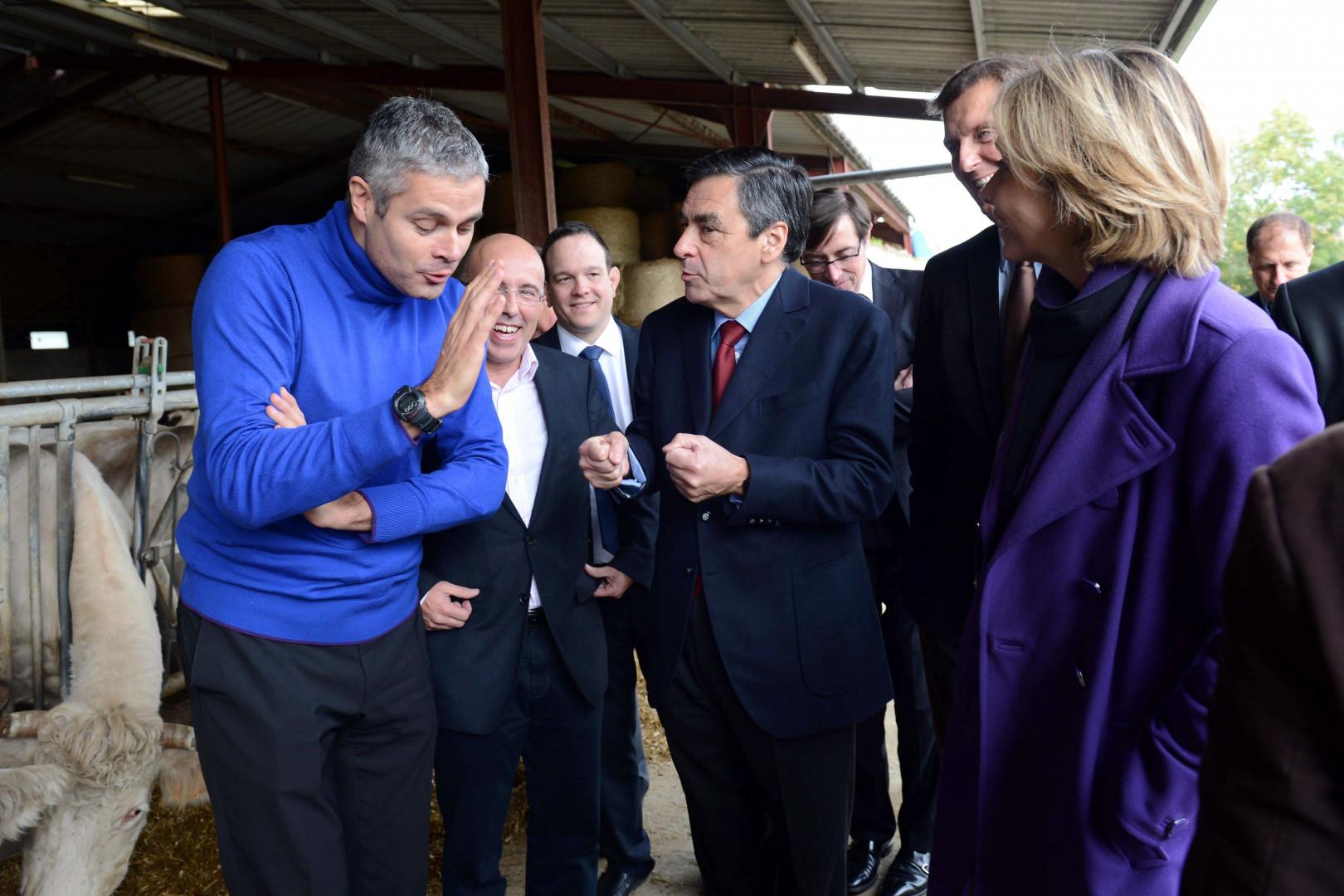 Laurent Wauquiez et François Fillon, le 11 novembre 2012