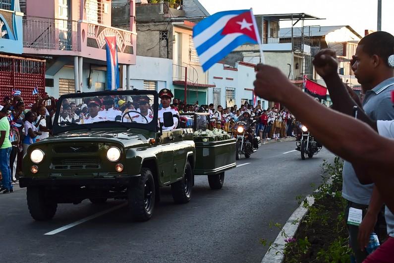 Le peuple cubain fait son dernier adieu à Fidel Castro, le 4 décembre 2016