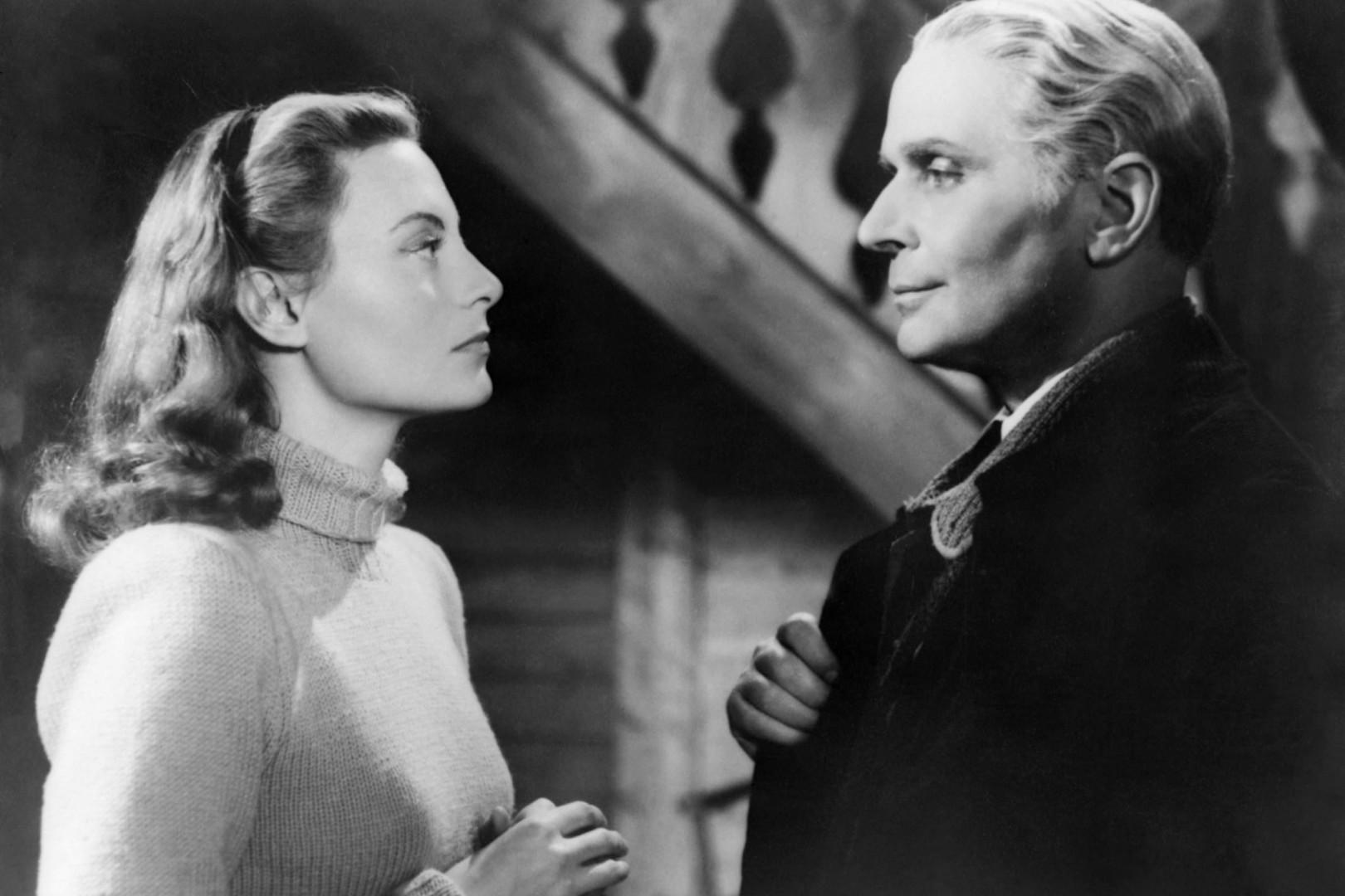 """Michele Morgan et Pierre Blanchar dans """"La Symphonie pastorale"""" (1946)"""