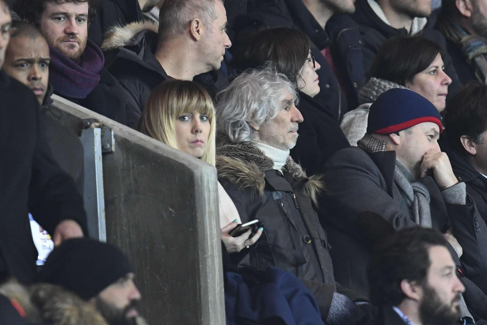 Louis Bertignac lors de PSG-Barcelone le 14 février 2017