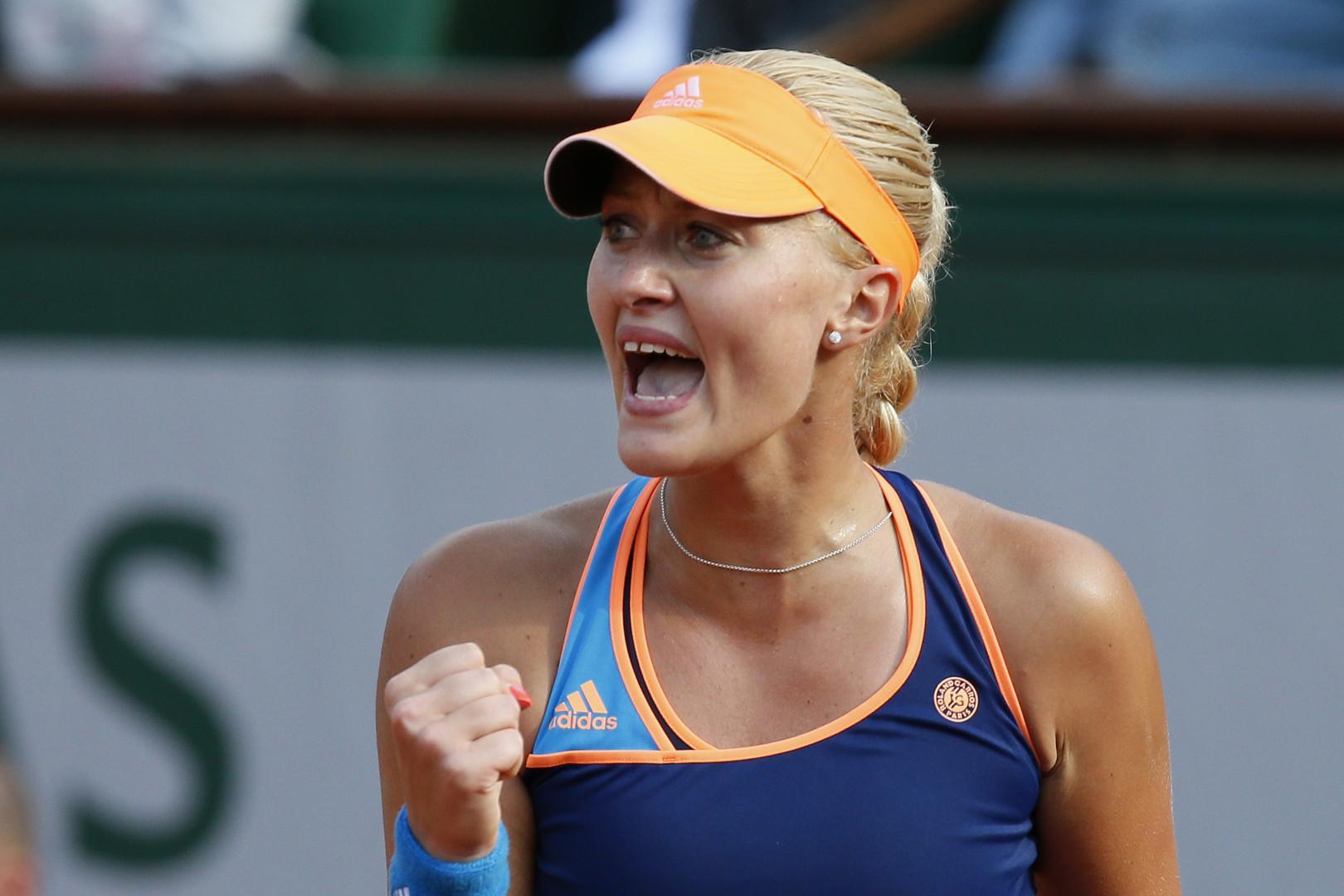 Kristina Mladenovic a remporté son premier tournoi cette année, à Saint-Pétersbourg.