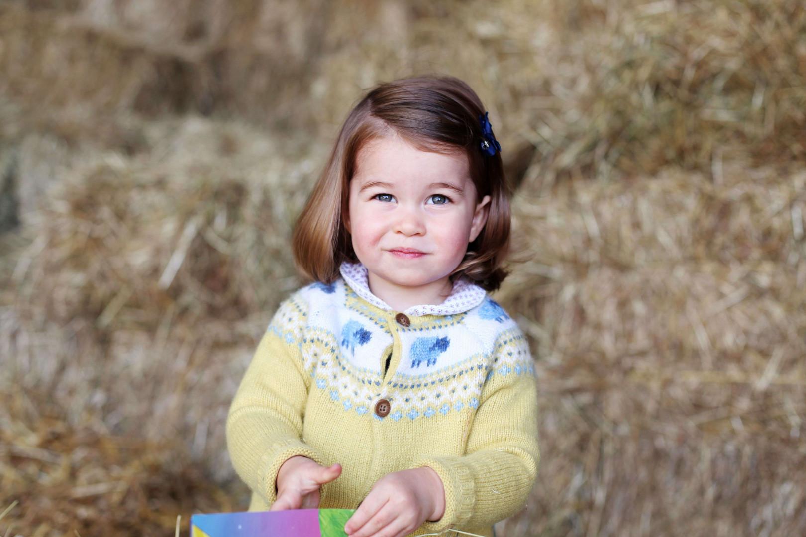 La princesse Charlotte immortalisée par Kensington Palace, le 1er mai 2017
