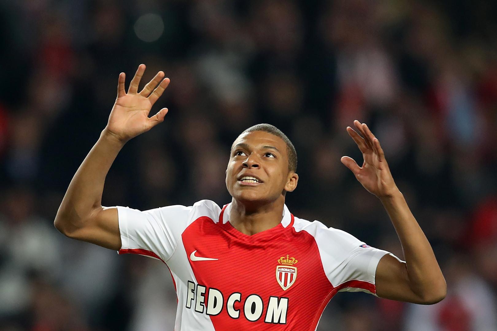Kylian Mbappé, 18 ans, attaquant de l'AS Monaco