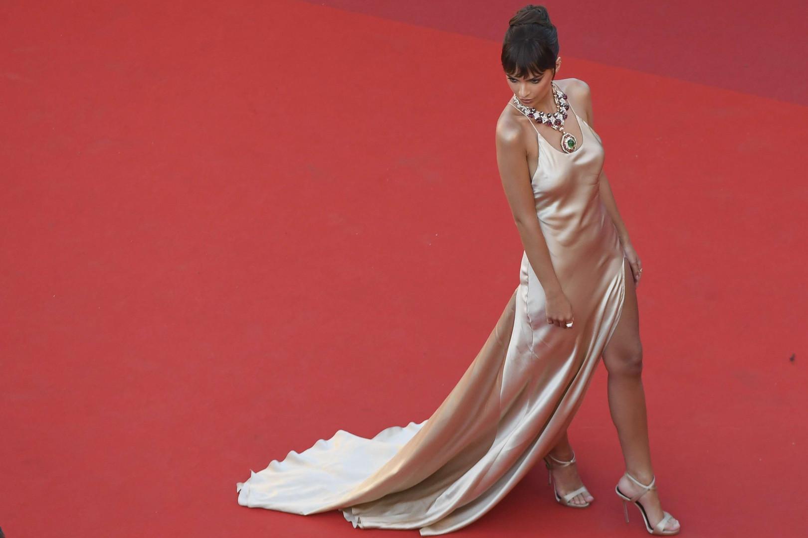 Emily Ratajkowski pour l'ouverture du Festival de Cannes, mercredi 17 mai
