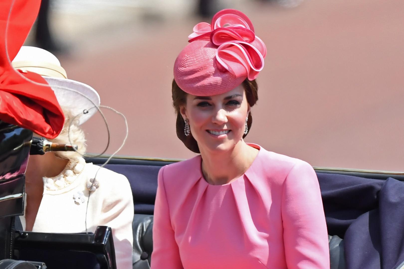La duchesse de Cambridge, lors des célébrations du 91e anniversaire de la Reine, le 17 juin 2017