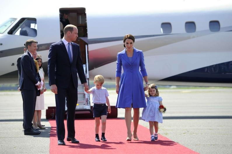 La famille royale arrive à Berlin
