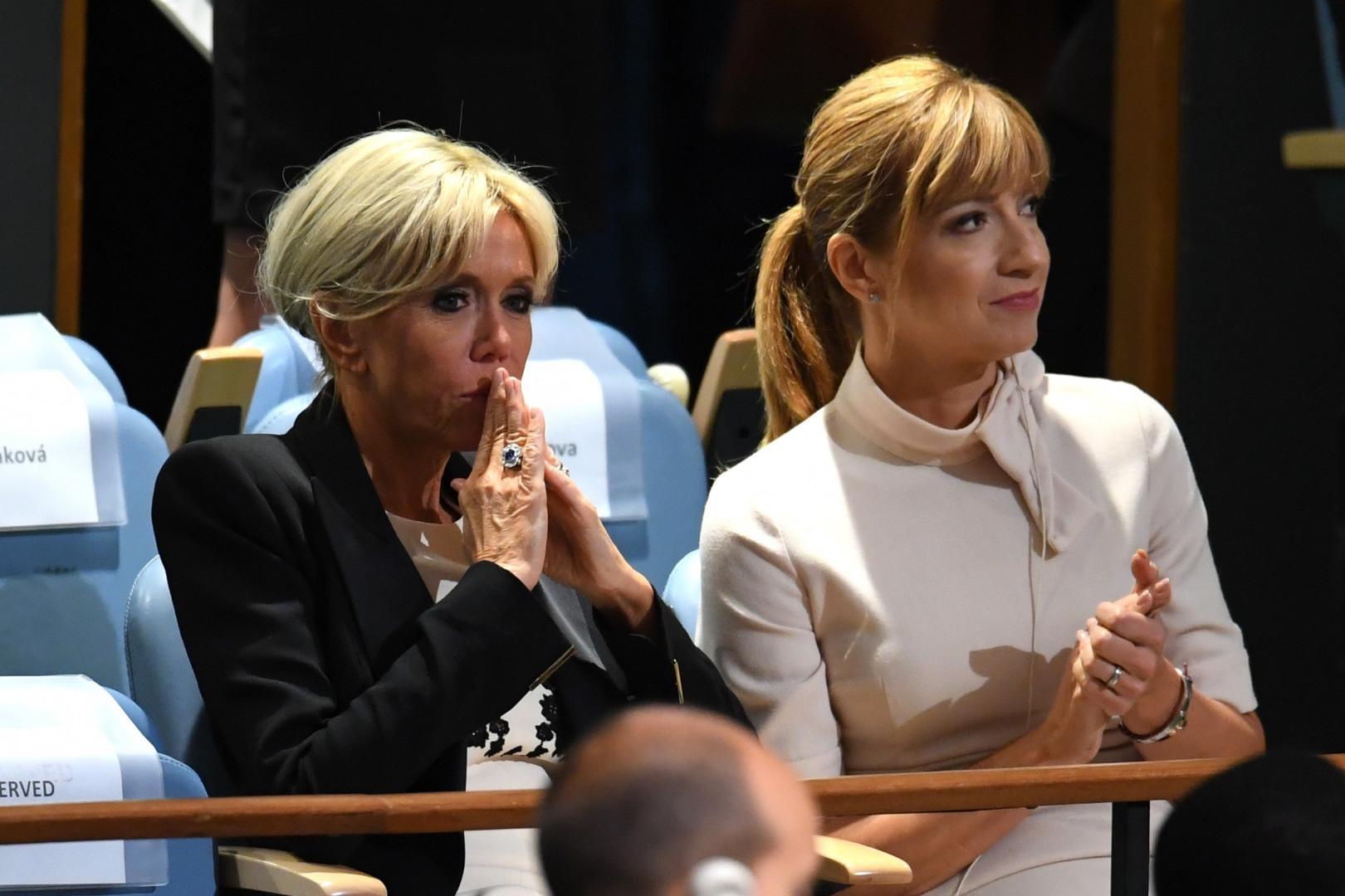 Brigitte Macron à l'ONU, le 19 septembre 2017