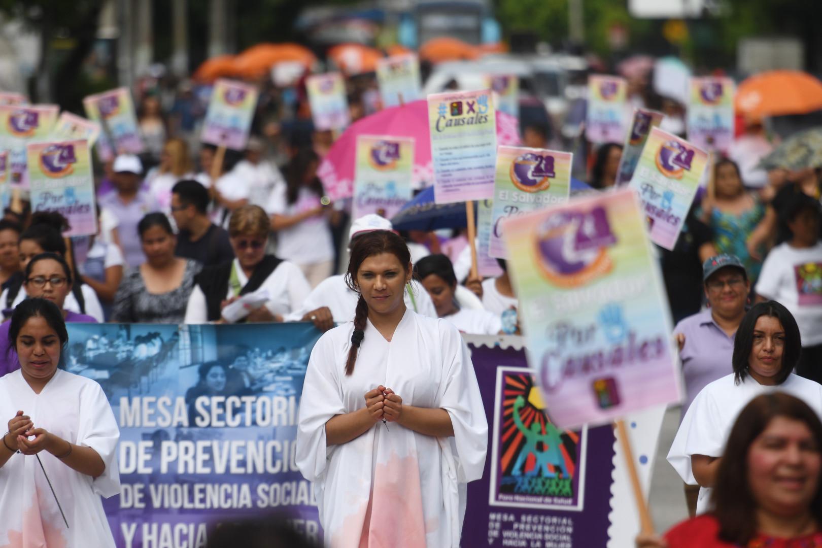 Une manifestation à San Salvador, le 28 septembre 2017, pour la dépénalisation de l'avortement