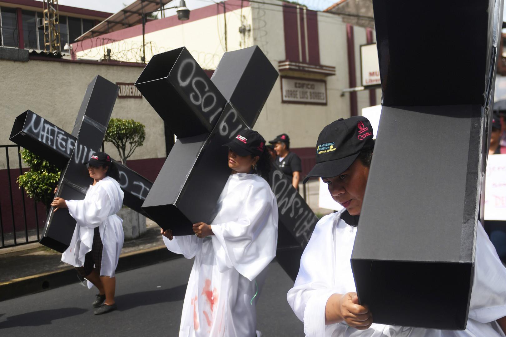 Une manifestation pour le droit à l'avortement à San Salvador, le 28 septembre 2017