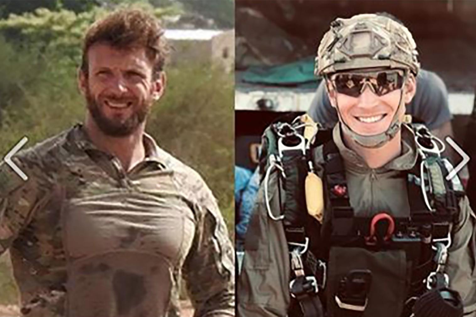 Cédric de Pierrepont et Alain Bertoncello les deux militaires tués dans l'opération au Burkina, le 10 mai 2019.