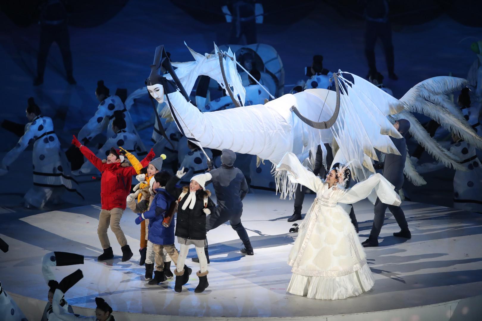 Cinq enfants out lancé cette cérémonie d'ouverture de Pyeongchang