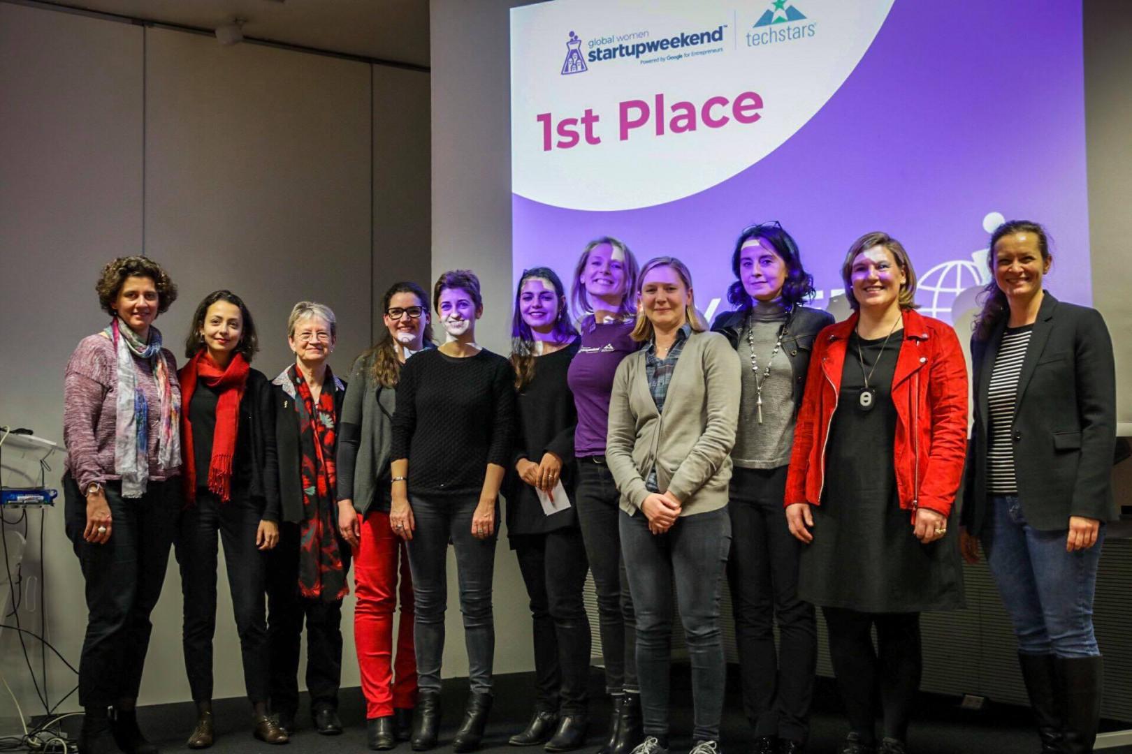 Happymeet, l'équipe gagnant du Global Startup Weekend Women