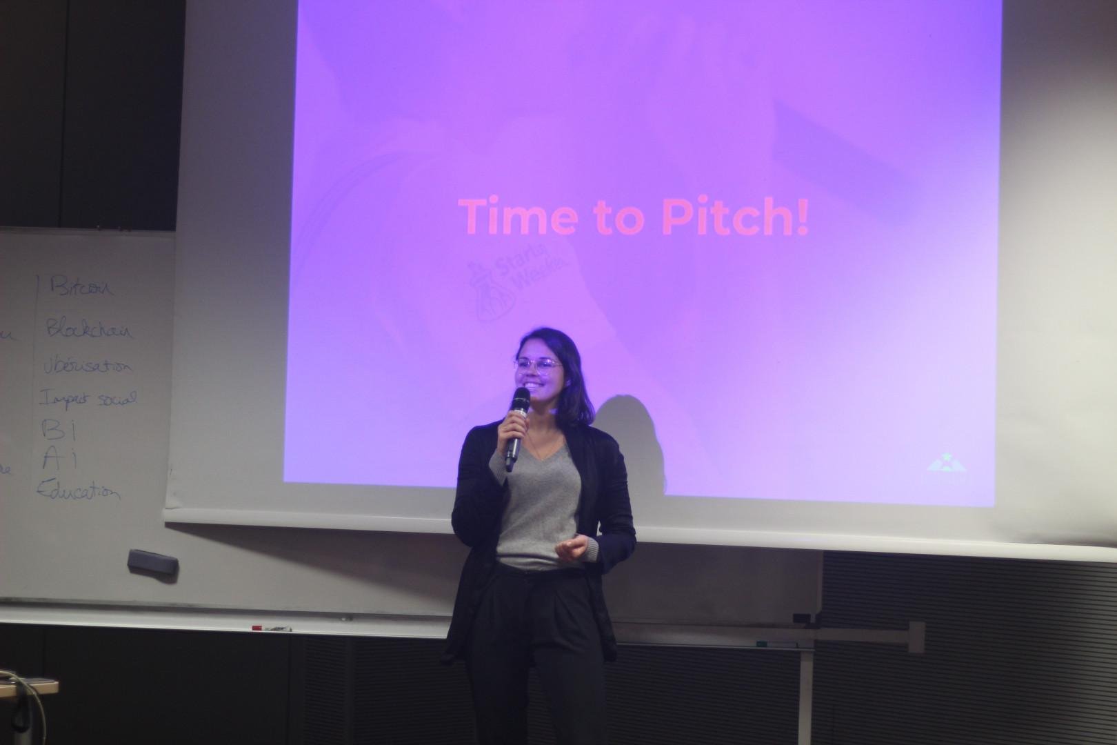 Marie Beauchesne, fondatrice de la marque féministe Ypsylone, est venue tester une nouvelle idée au Global Startup Weekend Women Paris