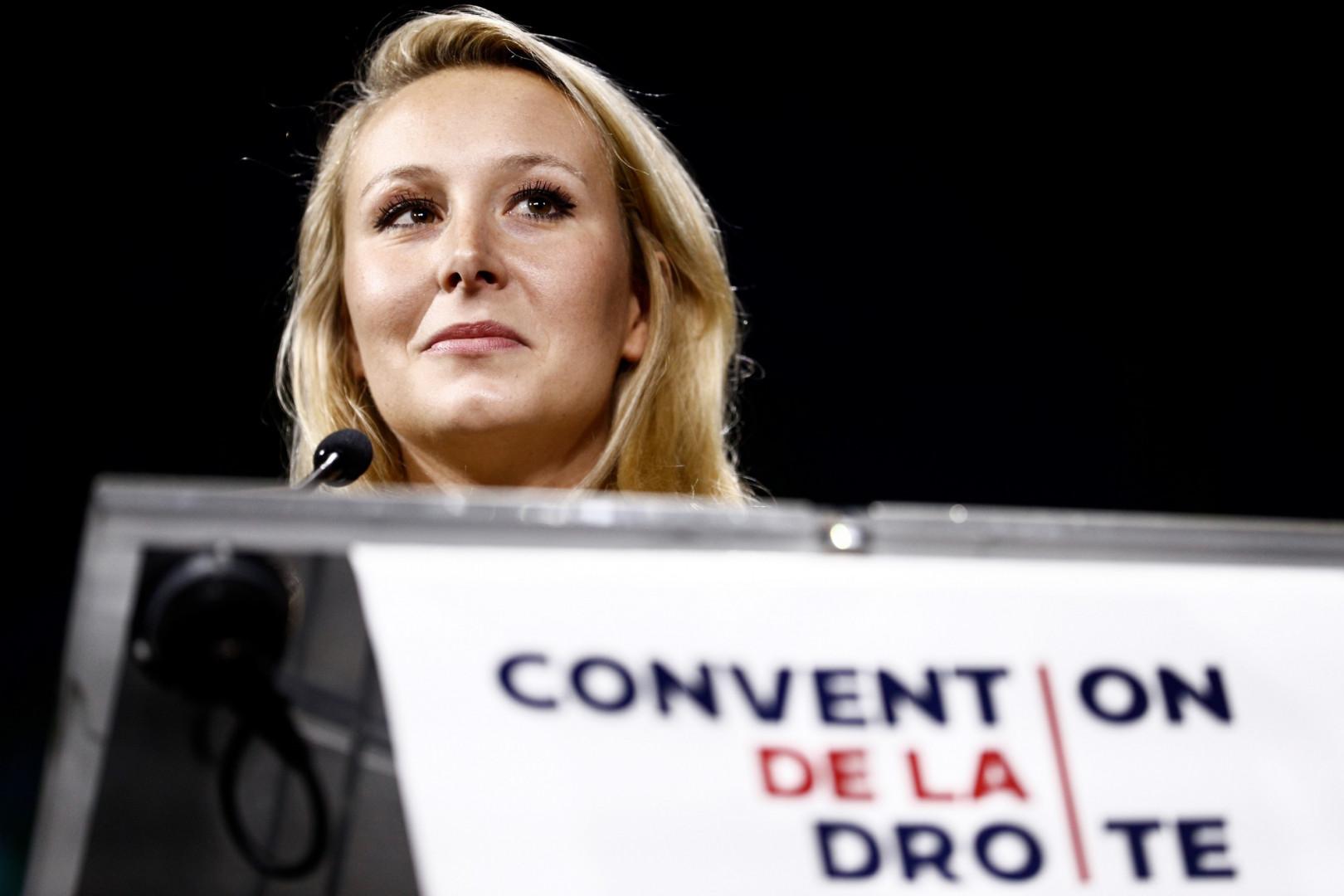Marion Maréchal, lors de la Convention de la droite le 21 septembre 2019