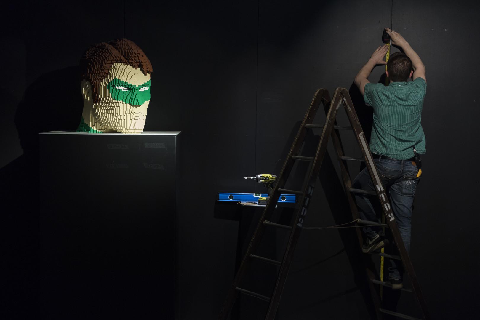 Le visage de Green Lantern
